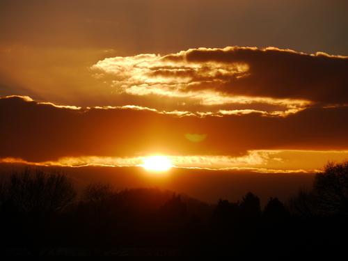 2月24日 ドイツ 夕焼け