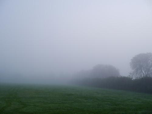 ドイツ、霧で真っ白だけど・・・見えるかな?